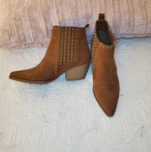 Maurices Brown Boots With Silver Accents